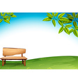 A wooden bench vector