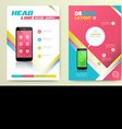 Abstract brochure template vector
