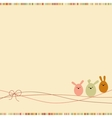 Easter card with copy space eps 8 vector