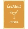 Cocktail menu retro poster orange vector