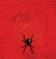 Grunge halloween spider background vector