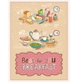 Best for you breakfast vintage poster design vector