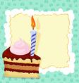 Cartoon funny birthday cake card vector