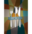 Restaurant card menu design vector