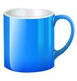 A blue mug vector