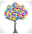Color businessmen tree vector