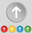 Arrow up this side up icon sign symbol on five vector