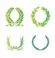 Ornate wreath set vector
