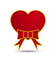 Love heart with ribbon bow vector