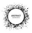 Gray abstract circle frame design element vector