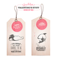 Set of vintage valentines day gift tags vector