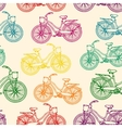 Seamless pattern with outline colorful rainbow vector