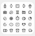 Clock icons set vector