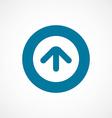 Arrow bold blue border circle icon vector