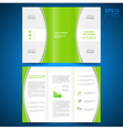 Brochure green curve bend line white background vector