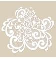 White lace ornament vector