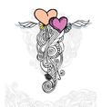 Heart of love doodle vector