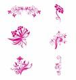 Pink flower floral vector
