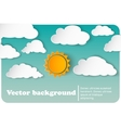 Sunny-cloudy background paper vector