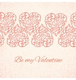 Valentines day romantic background template for vector
