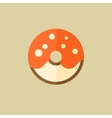 Donut food flat icon vector
