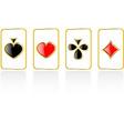 Play card set eps 8 vector