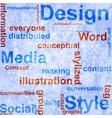 Word grunge collage on background vector