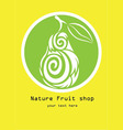 Nature fruit shop logo vector