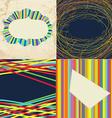 Set of grunge whimsical frames - bright design vector