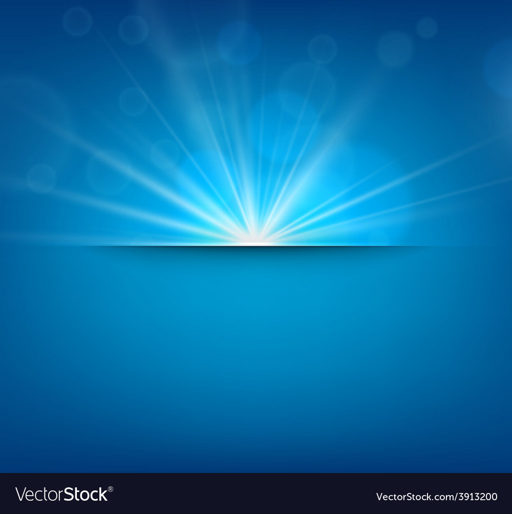 Blurry blue background with lens flare vector | Price: 1 Credit (USD $1)