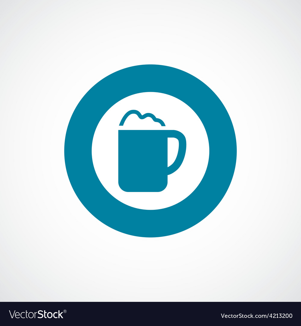 Cappuccino icon bold blue circle border vector | Price: 1 Credit (USD $1)