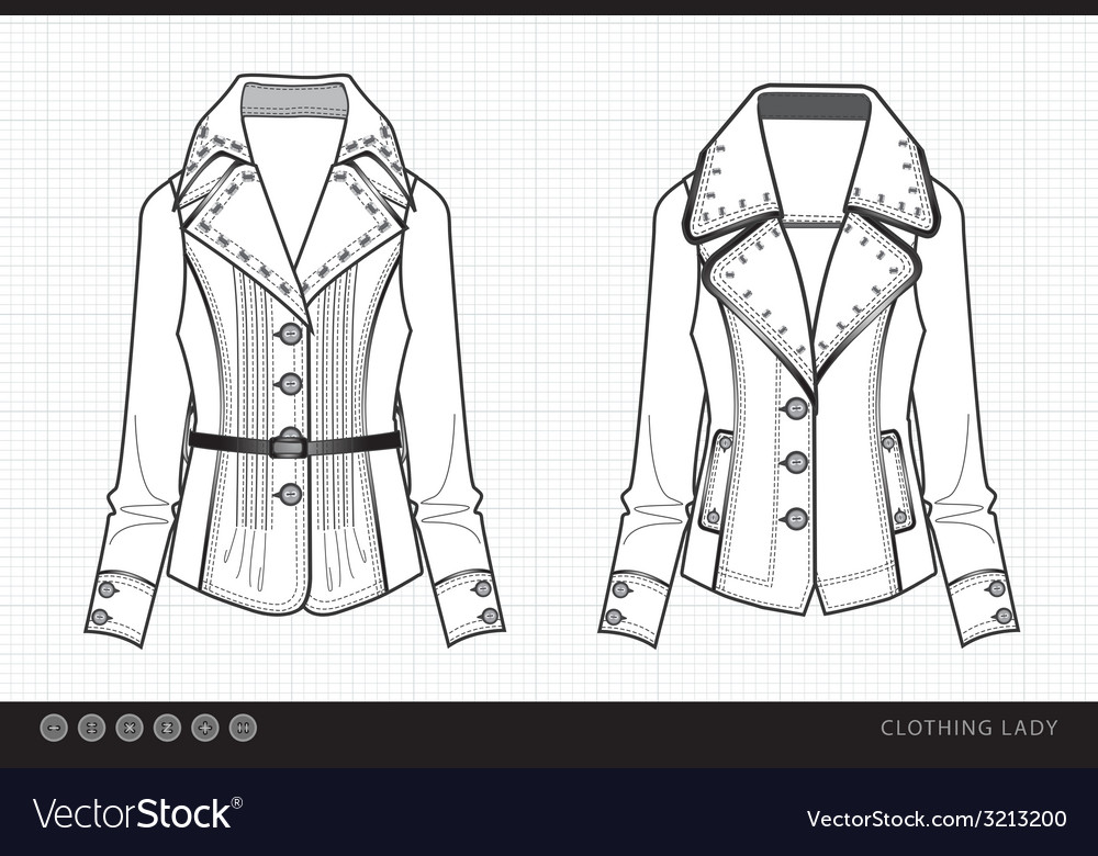Fashionable clothes lady vector | Price: 1 Credit (USD $1)