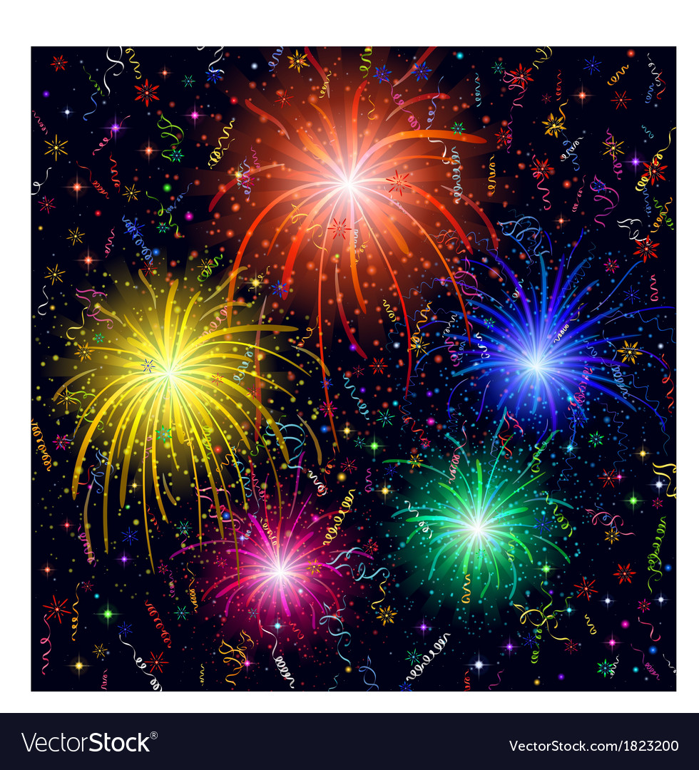 Firework background vector | Price: 1 Credit (USD $1)