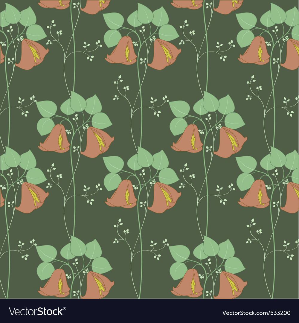 Floral textile design vector | Price: 1 Credit (USD $1)