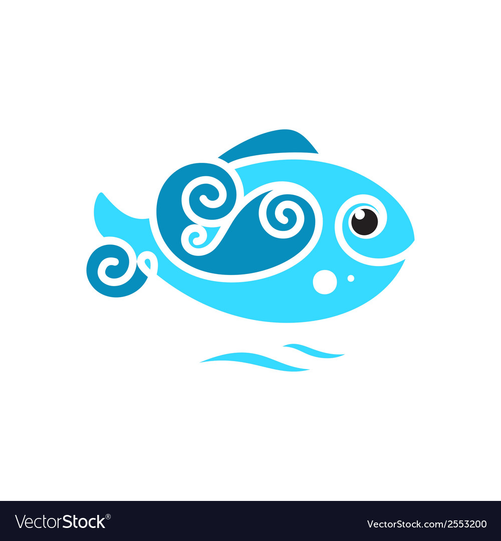 Frozen fish sign vector | Price: 1 Credit (USD $1)