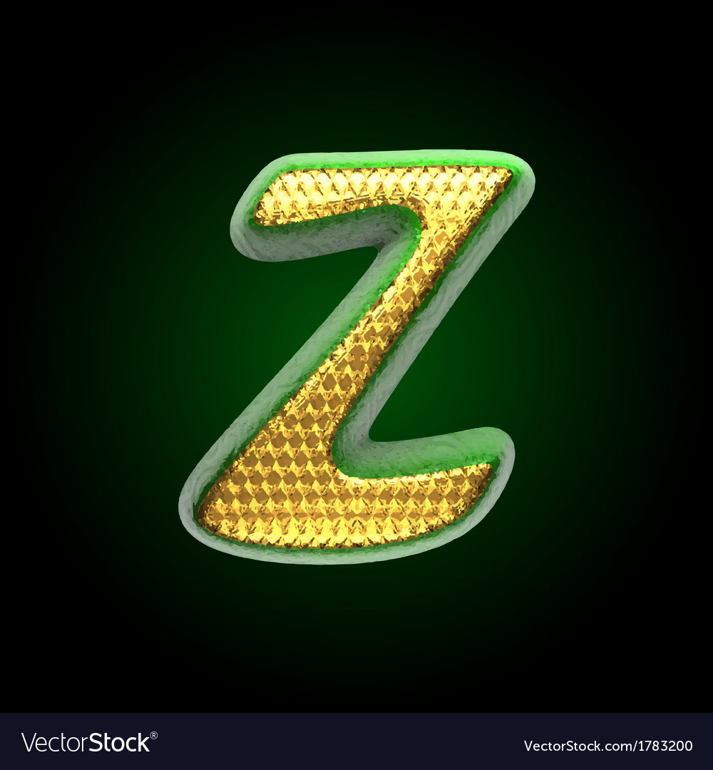 Golden and green letter z vector | Price: 1 Credit (USD $1)