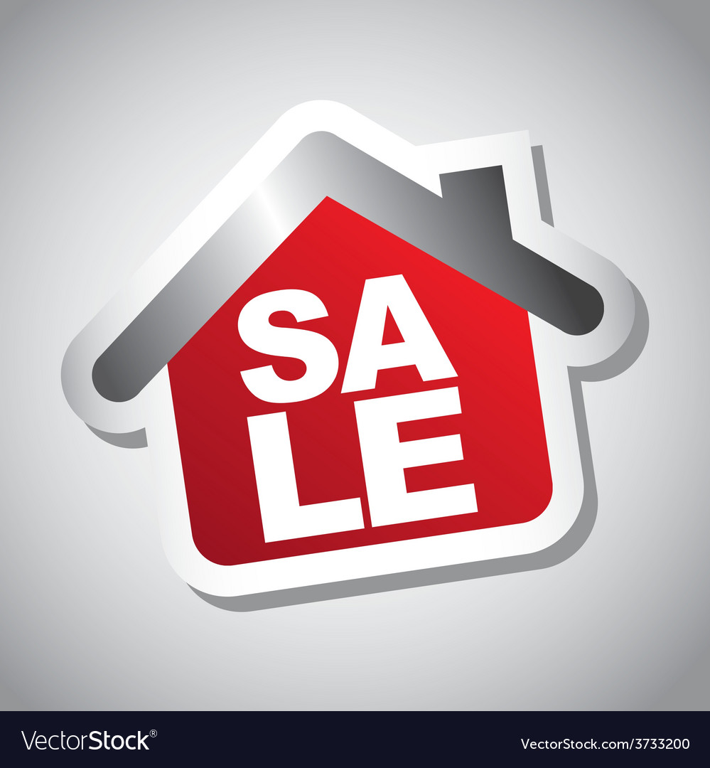 Sale house vector | Price: 1 Credit (USD $1)