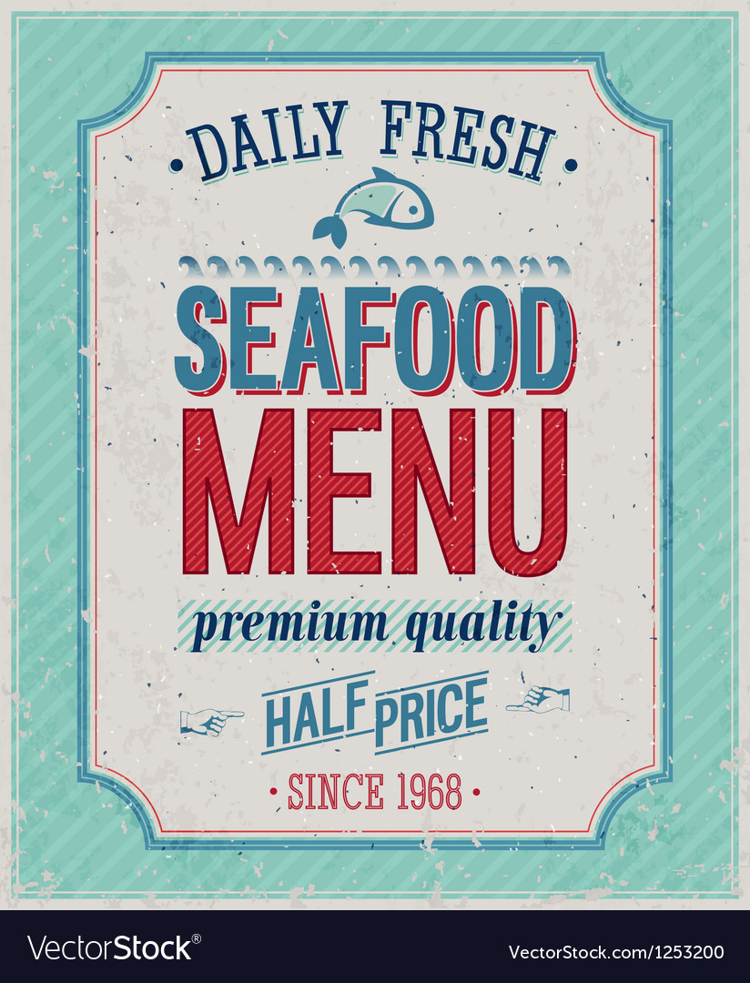 Seafood color vector | Price: 1 Credit (USD $1)