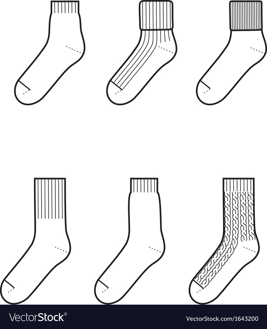 Socks vector | Price: 1 Credit (USD $1)