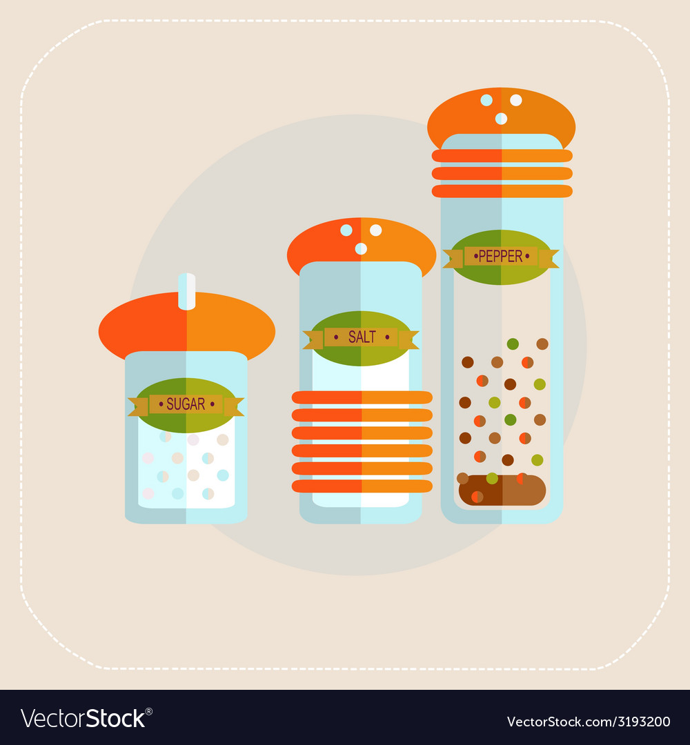 Spices icon flat vector | Price: 1 Credit (USD $1)