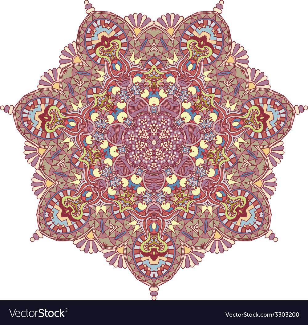 Triangular ornamental round lace vector   Price: 1 Credit (USD $1)
