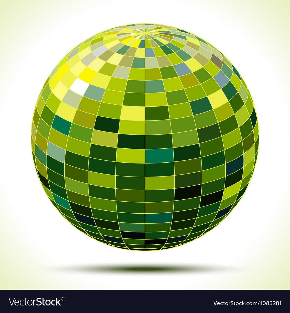 Abstract 3d green sphere vector | Price: 1 Credit (USD $1)