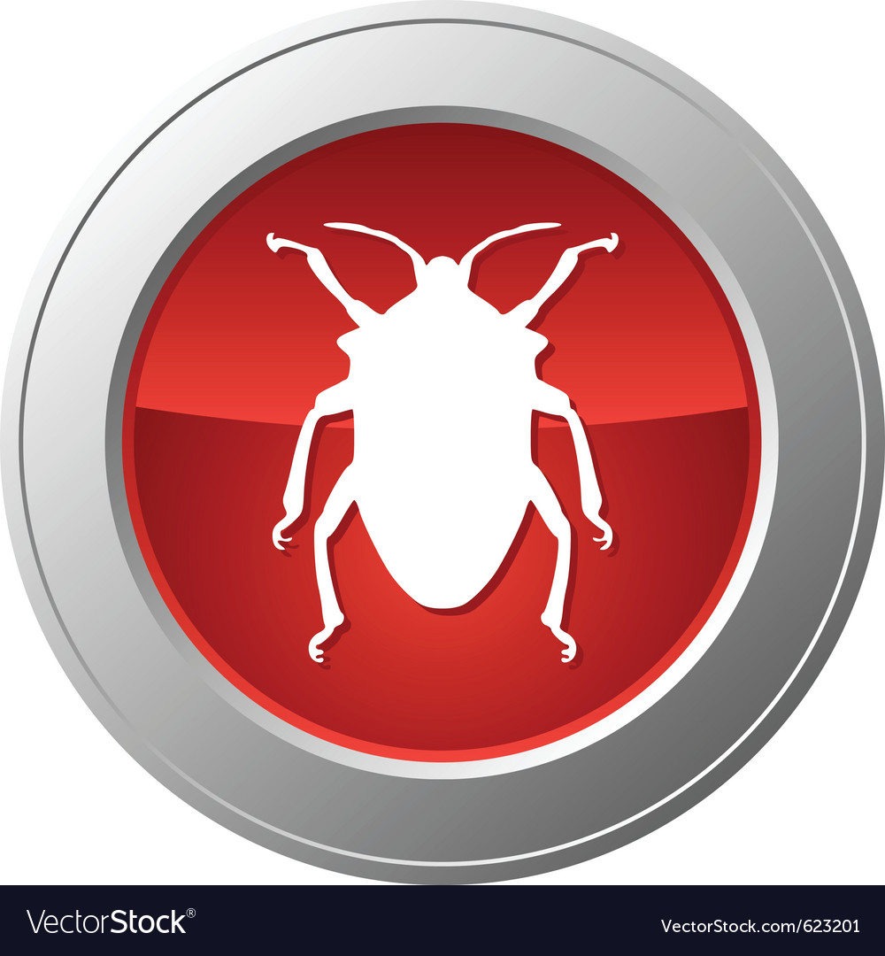Bug button vector | Price: 1 Credit (USD $1)