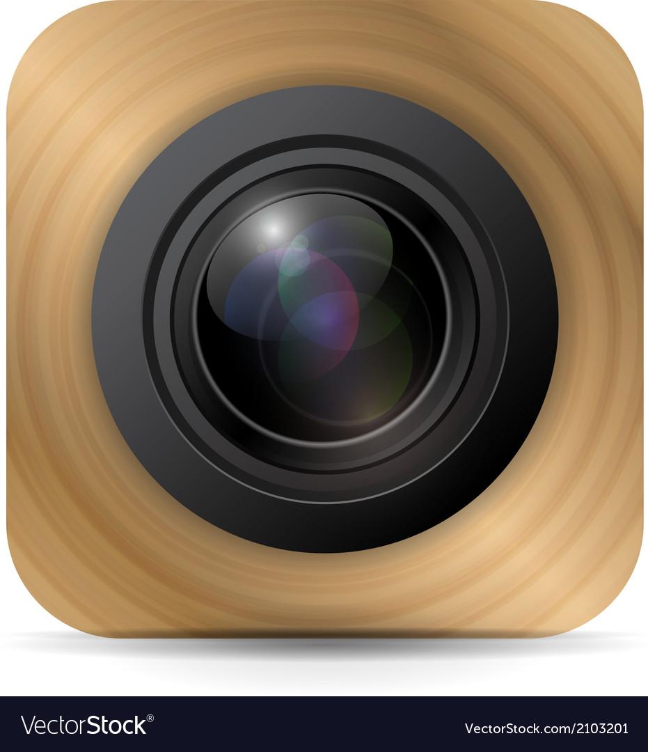 Camera application icon vector | Price: 1 Credit (USD $1)