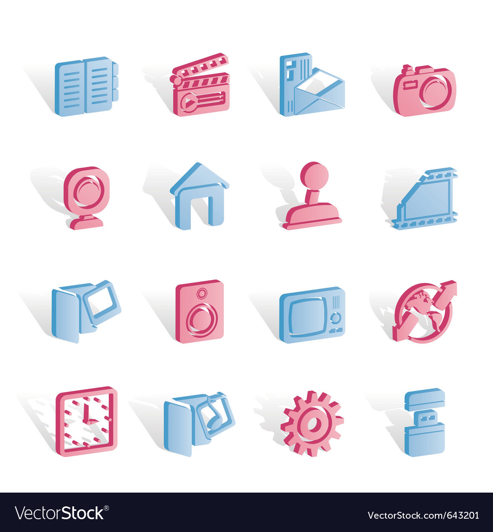 Computer and mobile phone icons vector | Price: 1 Credit (USD $1)