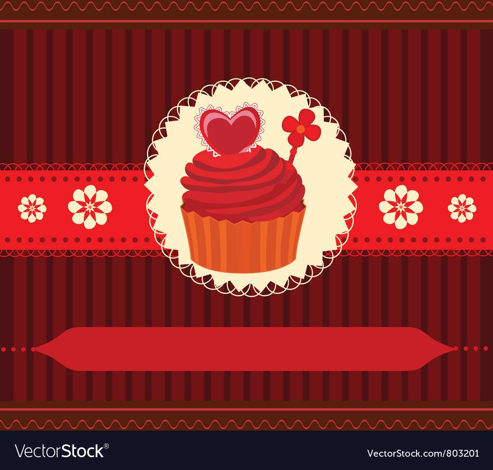 Cupcake invitation card vector | Price: 1 Credit (USD $1)
