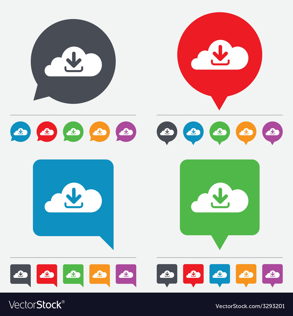 Download from cloud icon upload button vector | Price: 1 Credit (USD $1)