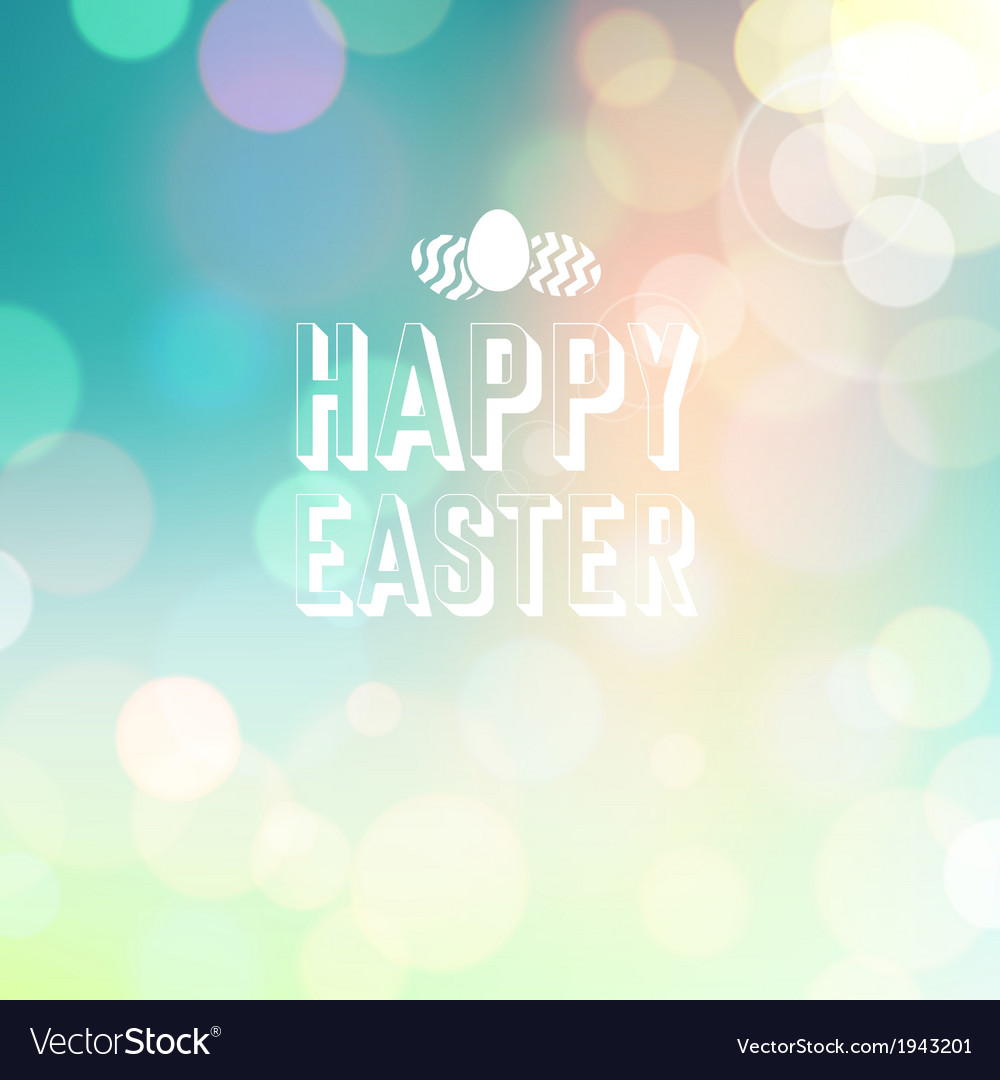 Easter background bokeh blue vector | Price: 1 Credit (USD $1)