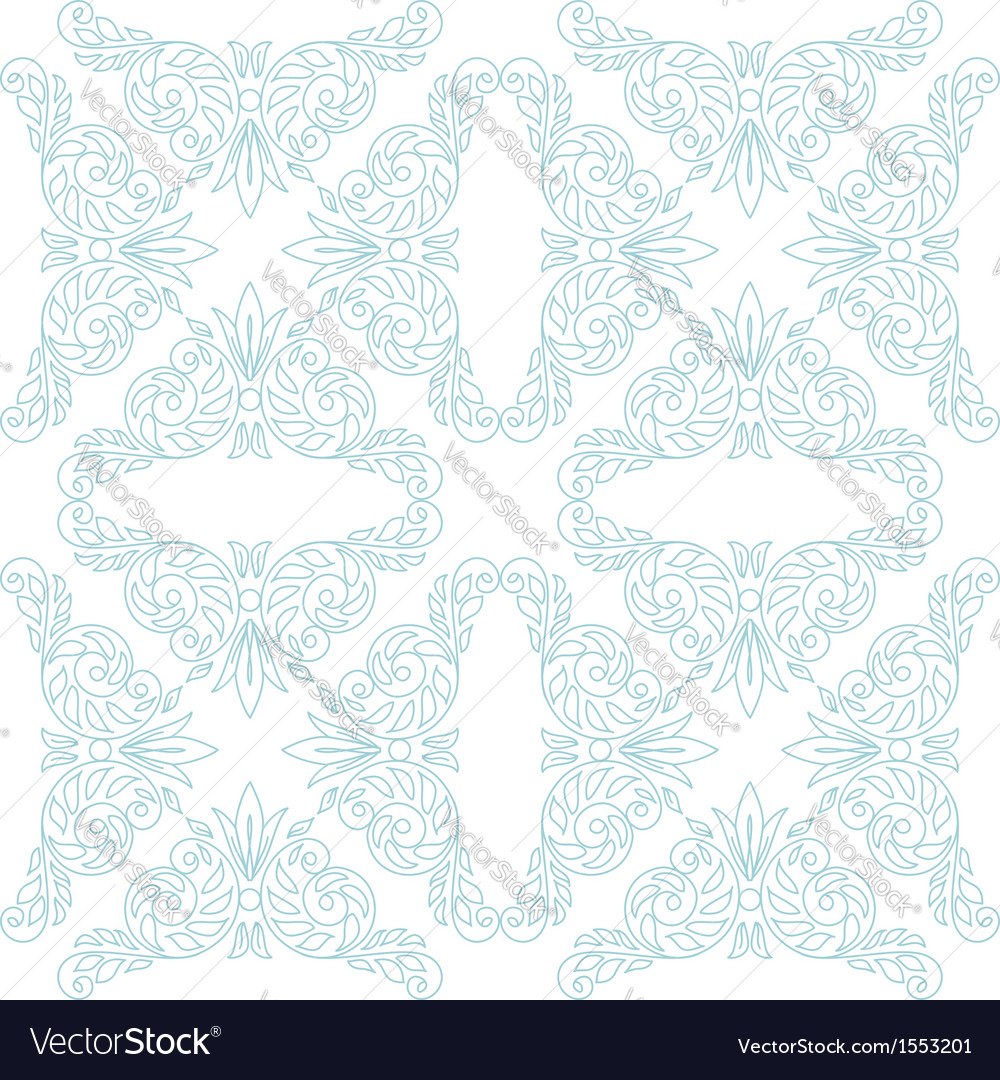 Light seamless pattern - white and blue vector | Price: 1 Credit (USD $1)