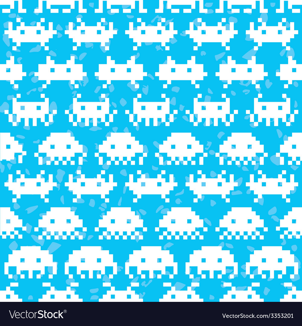 Old school game pattern vector | Price: 1 Credit (USD $1)